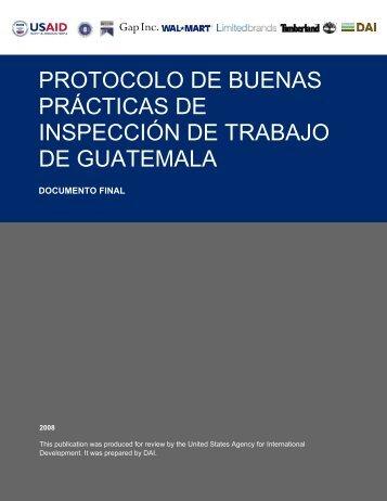 protocolo de buenas prácticas de inspección de trabajo de guatemala
