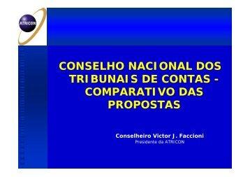 comparativo das propostas conselho nacional dos tribunais de contas