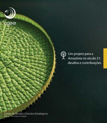 Um projeto para a Amazônia no século 21: desafios e ... - CGEE