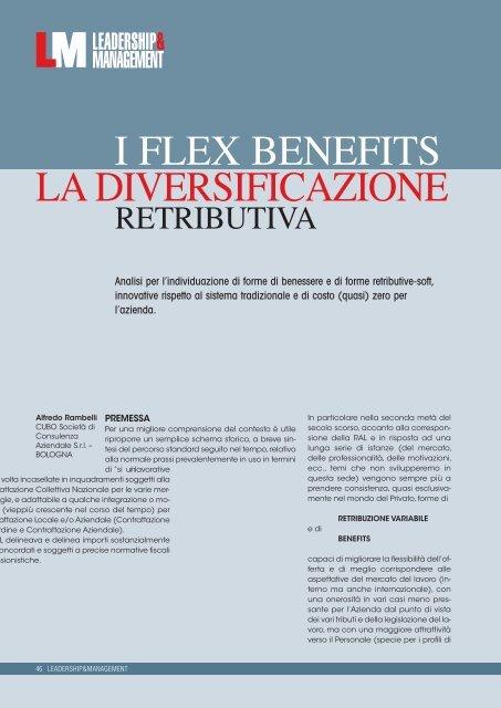 I Flex Benefit La Diversificazione Retributiva Cubo