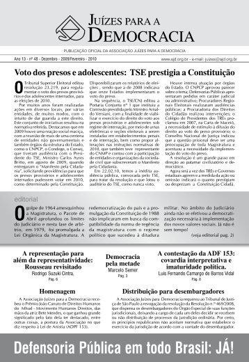 Jornal 48 DEZEMBRO 2009 - FEVEREIRO 2010 - AJD