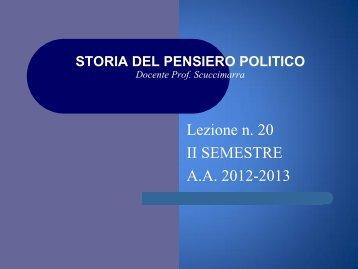 Materiali del corso di Storia delle dottrine politiche d