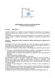 REGOLAMENTO di SCUOLE CIVICHE DI MILANO Fondazione di ...