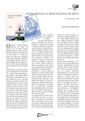 Jacobo Barros e a épica da pesca da altura