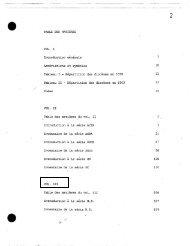 TABLE DES MATIERES VOL. I Introduction generale Abreviations et ...