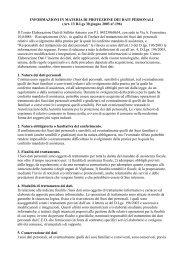 Informativa sulla privacy - CED di Antonio Sellitto