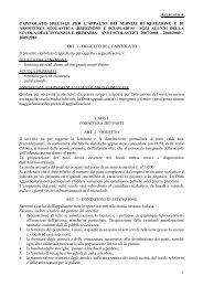 1 capitolato speciale per l'appalto dei servizi di refezione e di ...
