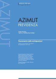 Documento sulle anticipazioni.indd - Azimut Previdenza
