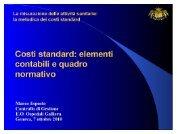 Costi standard elementi contabili e quadro ... - Ospedale Galliera