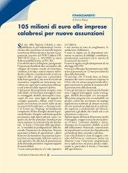 105 milioni di euro alle imprese calabresi per nuove assunzioni