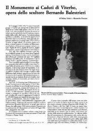 Il Monumento ai Caduti di Viterbo, opera dello scultore Bernardo ...