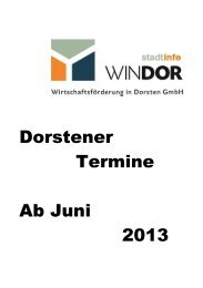 Dorstener Termine Ab Juni 2013 - WINDOR Wirtschaftsförderung in ...