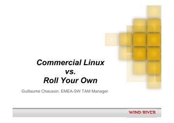 2 _ Wind River _ Commercial Linux vs RYO