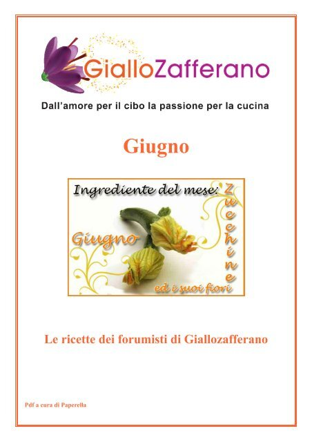 Fiori Fritti Giallo Zafferano.Le Ricette Dei Forumisti Di Giallozafferano