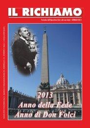 2013 Anno della Fede Anno di Don Folci - Opera don Giovanni Folci