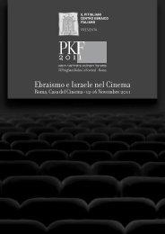 Ebraismo e Israele nel Cinema - Reggi&Spizzichino