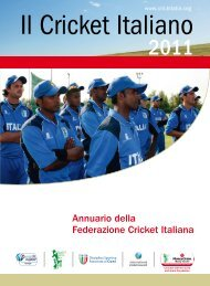 Annuario 2011 - Federazione Cricket Italiana