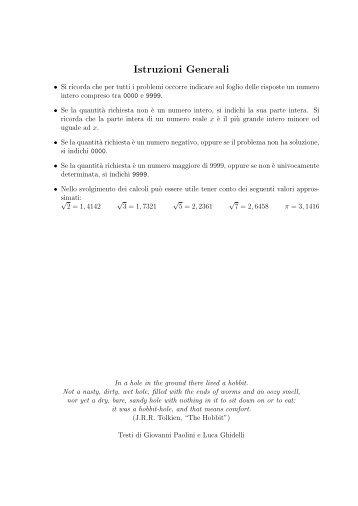 Istruzioni Generali - Disfida online