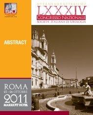 84° Congresso Nazionale Società Italiana di Urologia – 2011