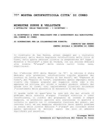 Ricettario n. 4 - Comune di Cuneo