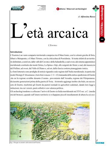 di Alfonsina Russo Introduzione L'Enotria è un vasto comparto ...