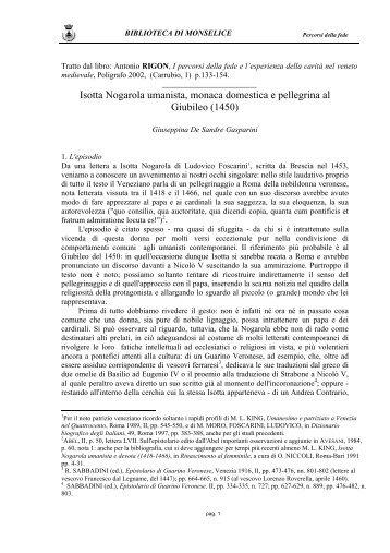 Giuseppina De Sandre Gasparini - Provincia di Padova