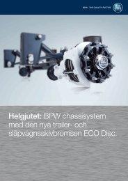 och släpvagnsskivbromsen ECO Disc. - Foma