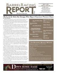 5/7 - Barrel Racing Report