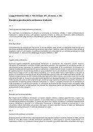 Disciplina giuridica della professione di attuario. - Ania