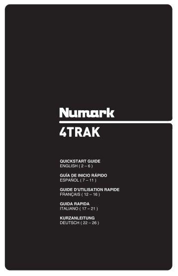 4TRAK - Quickstart Guide - v1.1 - Numark