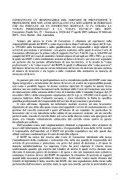 le responsabilit penali del RSPP