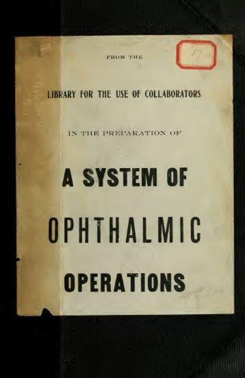 Chirurgie de l'oeil et de ses annexes