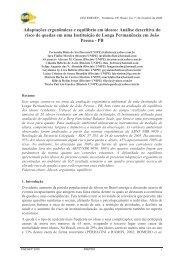 Adaptações ergonômicas e equilíbrio em idosos: Análise ... - Abepro