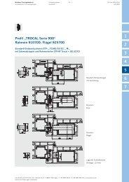 """Profil """"TROCAL Serie 900"""" Rahmen 910700; Flügel ... - Winkhaus"""
