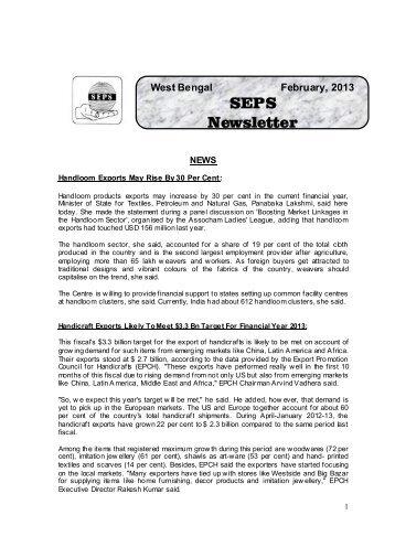 news letter february 2013 - Wbseps.com