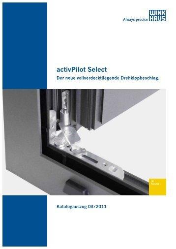 Beschlagsübersicht activPilot Select Alu - Winkhaus