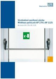 Vícebodové panikové zámky Winkhaus panicLock AP 179 a AP 1125