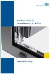 List of fittings activPilot Select for aluminium windows - Winkhaus