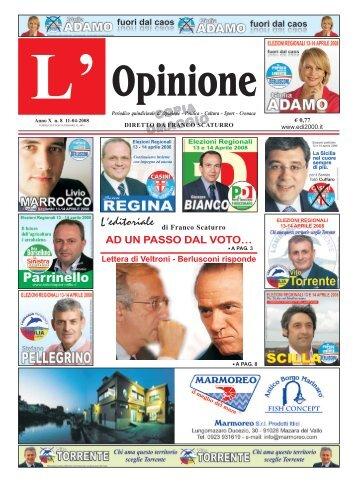 Anno X n. 8 11-04-2008 - teleIBS