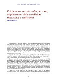 Psichiatria centrata sulla persona, applicazione delle ... - ACP
