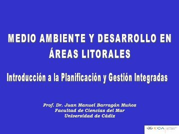 Tema 5. - PLANIFICACIÓN Y GESTIÓN LITORAL - Universidad de ...