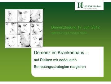 (Hamrick et al. 2006). - Demenztagung 2012