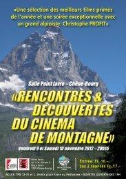 Cinéma Montagne 2012 - Fondation Nicole Niquille