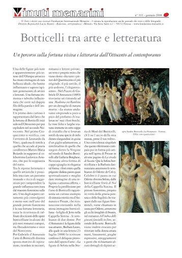 333 Botticelli tra arte e letteratura - Fondazione Internazionale ...
