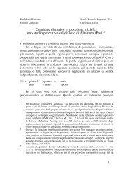 uno studio percettivo sul dialetto di Altamura (Bari) - Linguistica ...