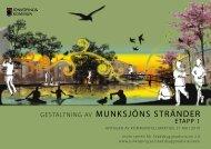 Gestaltning av Munksjöns stränder - etapp 1 - Jönköpings kommun