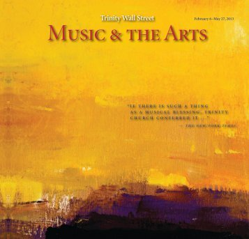 Music & the Arts - Trinity Church