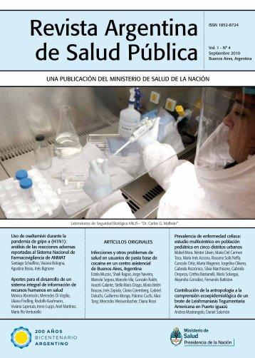 Revista Argentina de Salud Pública Vol. 1 - Comisión Nacional ...