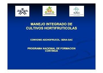 manejo integrado de cultivos hortifruticolas - cadena hortofruticola