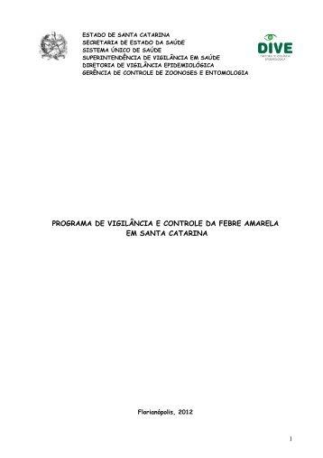 Programa de Vigilância e Controle da Febre Amarela em Santa ...